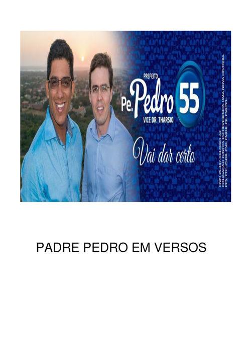 PADRE PEDRO EM VERSOS