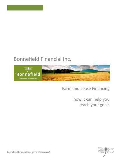 Farmland Lease Financing - how it can help you reach you