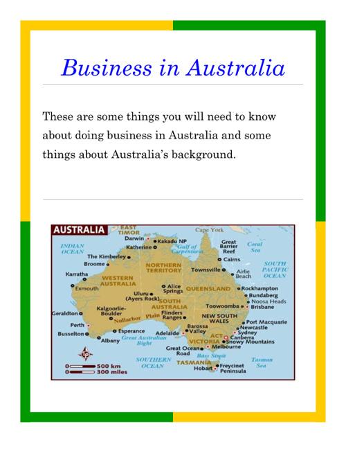 Business in Australia