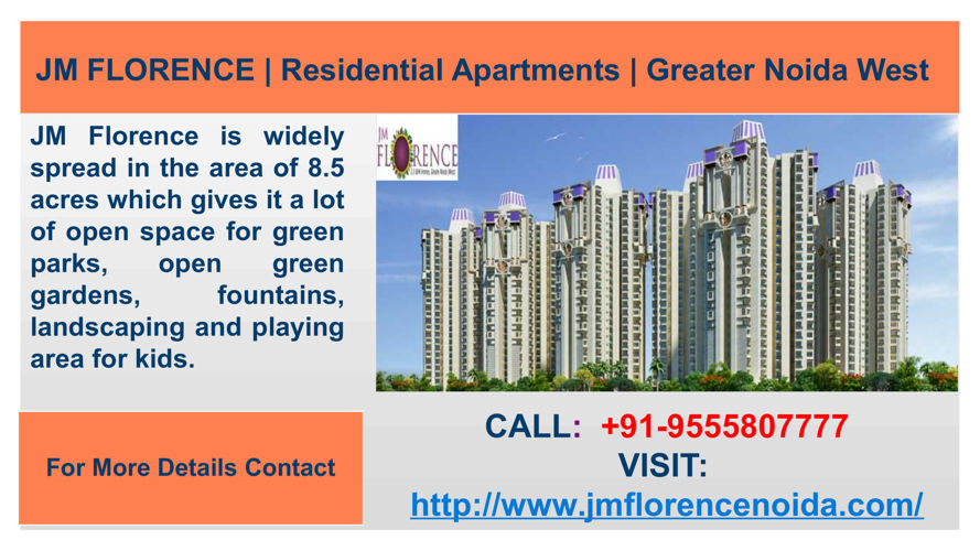 JM Florence Remarkable Apartments with 80 percent greenary