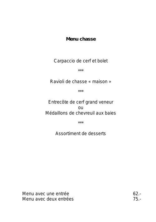 Copy (2) of Carte restaurant Les 3 Couronnes à Martigny