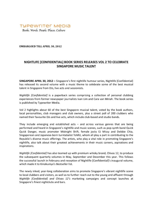 Copy of NIGHTLIFE Press release