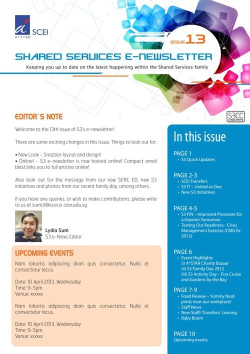 S3 Newsletter Draft