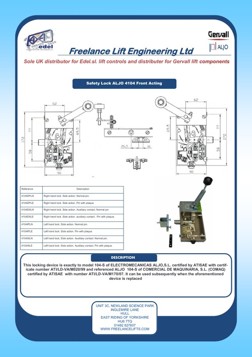 Gervall Lift Components