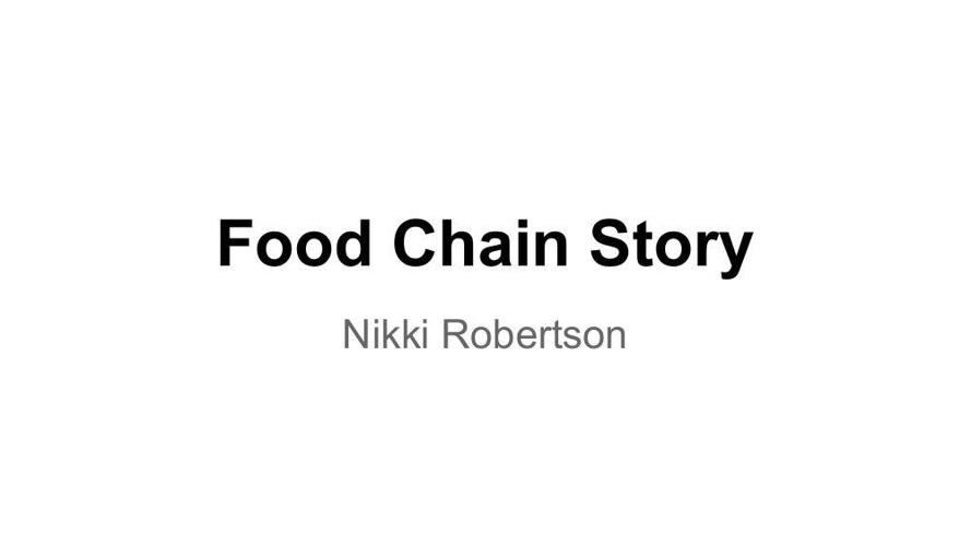 Food Chain Story