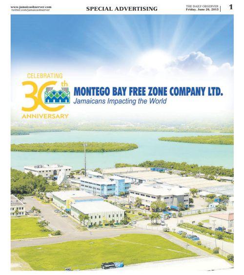 MONTEGO BAY FREE ZONE CELEBRATING 30 YEARS IN 2015