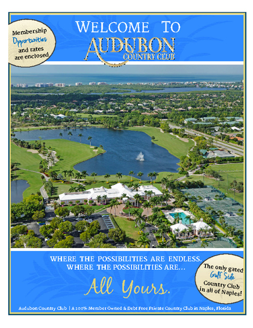 Audubon Country Club of Naples Welcome Package