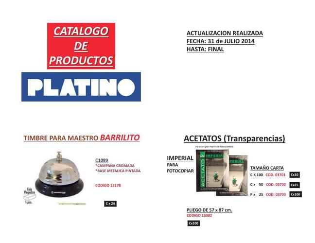 CATALOGO ELECTRONICO PLATINO GENERAL
