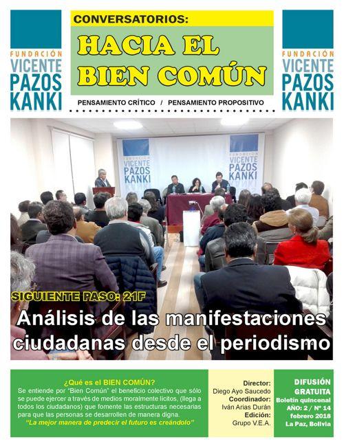 BOLETIN 14 - HACIA EL BIEN COMÚN