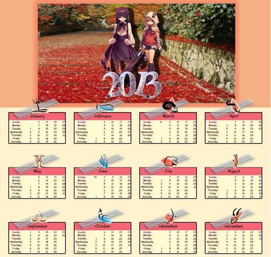 S1 Calendar Sample 2013