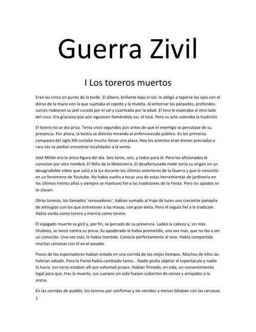 Guerra Zivil - I Los Toreros Muertos