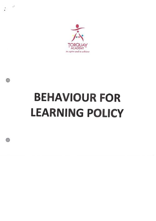 Behaviour for Learning Jan 2015