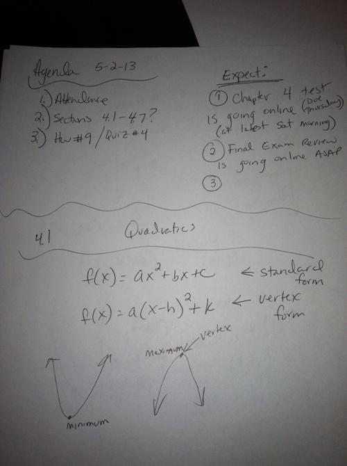 May 2nd Notes