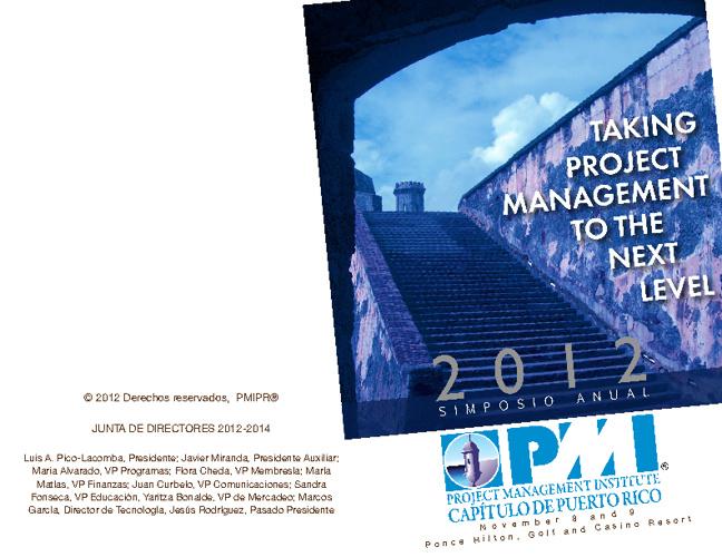 2012 PMIPR Symposium program
