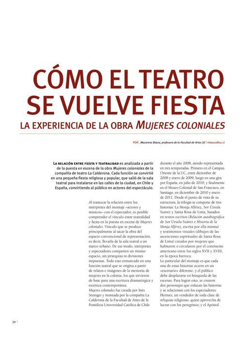 artículo sobre Mujeres Coloniales Revista Diálogos