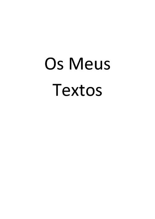 Os Meus Textos