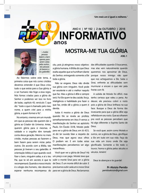 INFORMATIVO PIBJF 02.10.2016