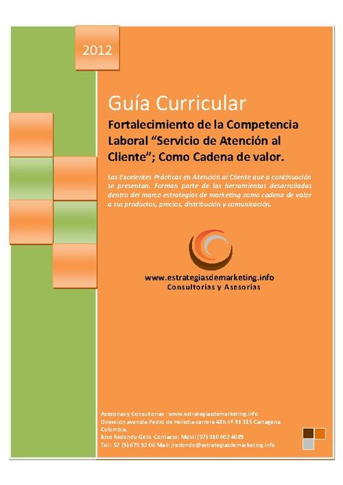 Fortalecimiento Competencia Laboral Servicio Atencion Cliente