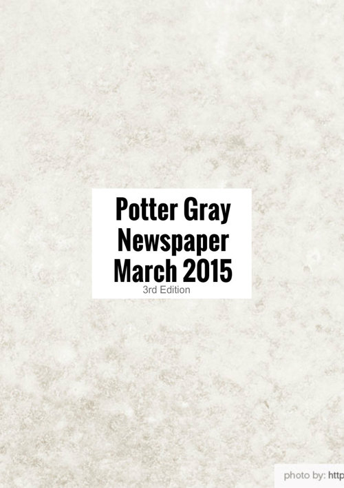 Potter Gray newsletter March Edition