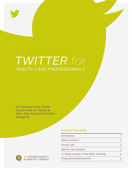 Twitter for Health Care Professionals