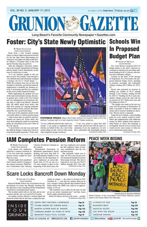 Grunion Gazette | January 17, 2013