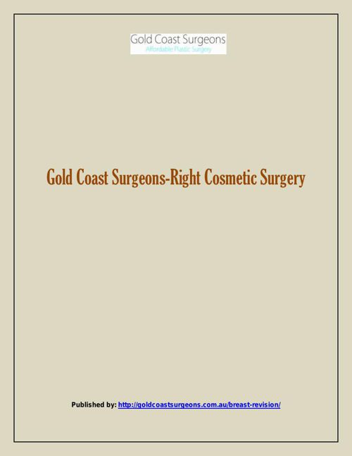 Gold Coast Surgeons-Right Cosmetic Surgery