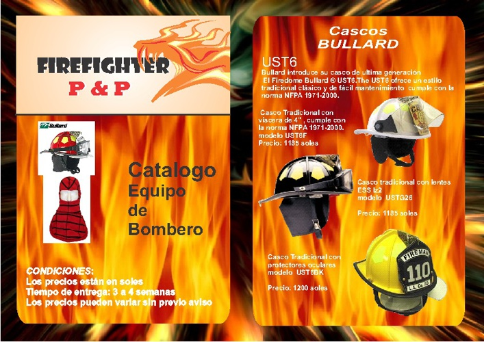 Catalogo Firefighter P&P