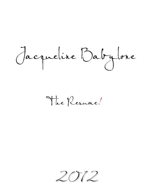 JACQUELINE BABYLONE RESUME 1