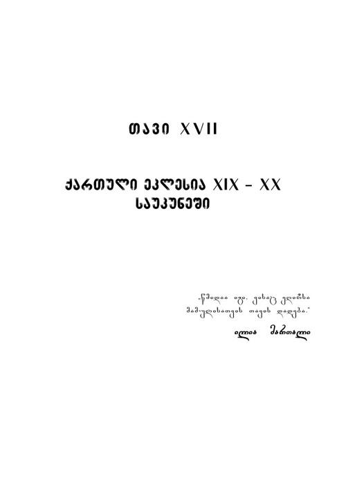 საქართველოს სამოციქულო ეკლესიის ისტორია. ტომი მეოთხე
