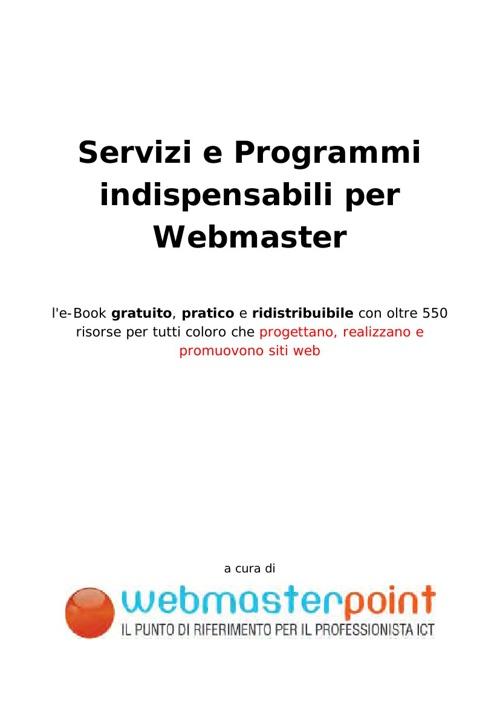 servizi e programmi x webmaster