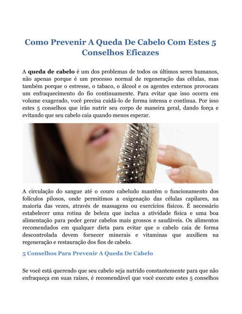 Como Prevenir A Queda De Cabelo Com Estes 5 Conselhos Eficaz