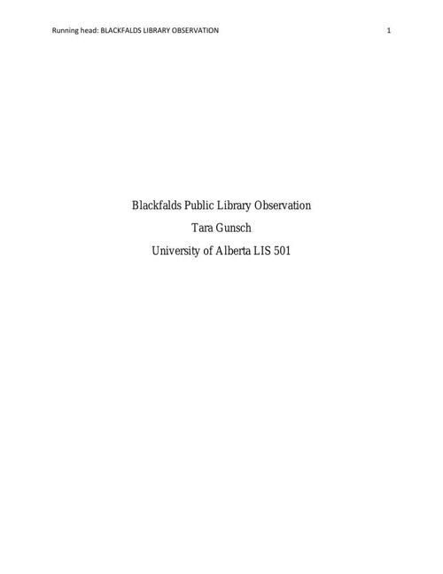 Blackfalds Public Library Observation 18pt font