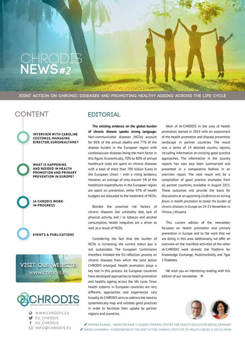JA-CHRODIS Newsletter Health Promotion