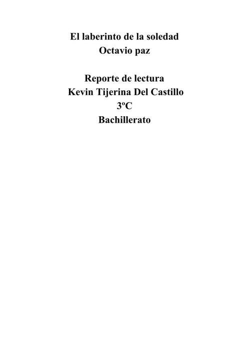 reporte de lectura Kevin Tijerina 3ºC