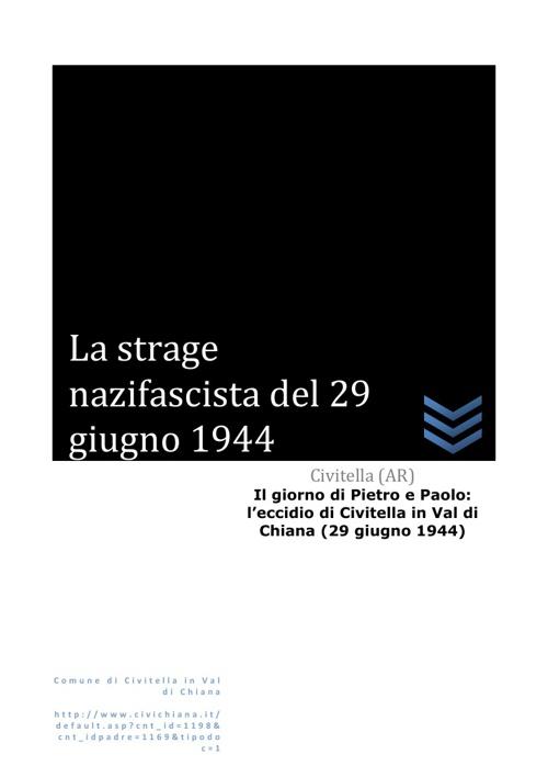 La strage nazifascista del 29 Giugno 1944