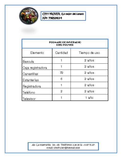322976 Formato Inventario City Fruver