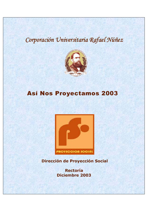 Así nos proyectamos 2003