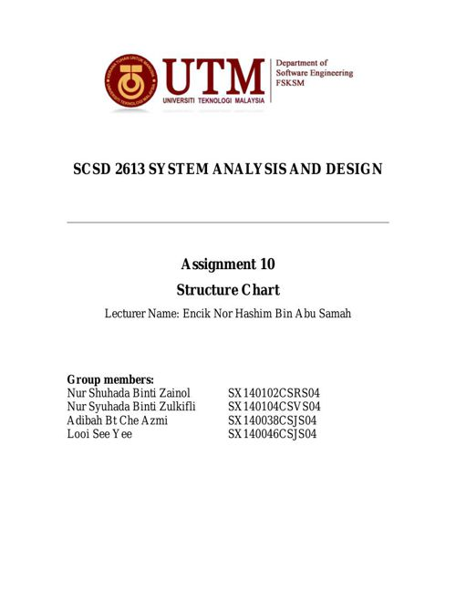 SCSD2613 Assignment 10 - Structure Chart