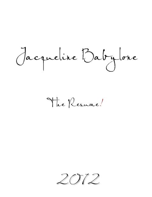 JACQUELINE BABYLONE RESUME
