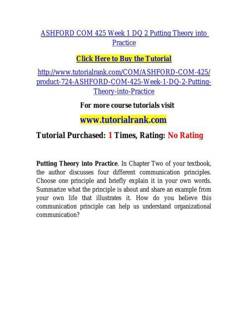 ASHFORD COM 425 learning consultant / tutorialrank.com