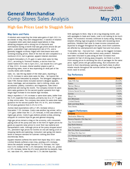 June 2011 Comp Store Sales Report