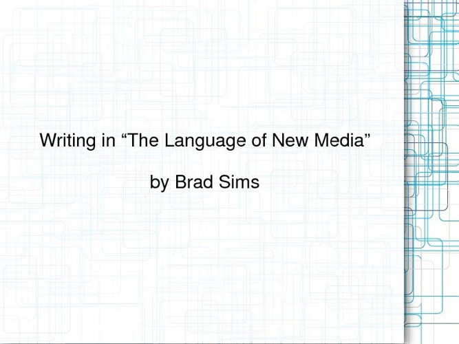"""Lev Manovich and """"The Language of New Media"""""""