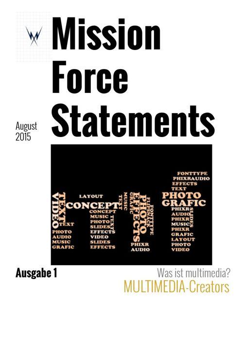 Mission Force Magazin Ausgabe 1