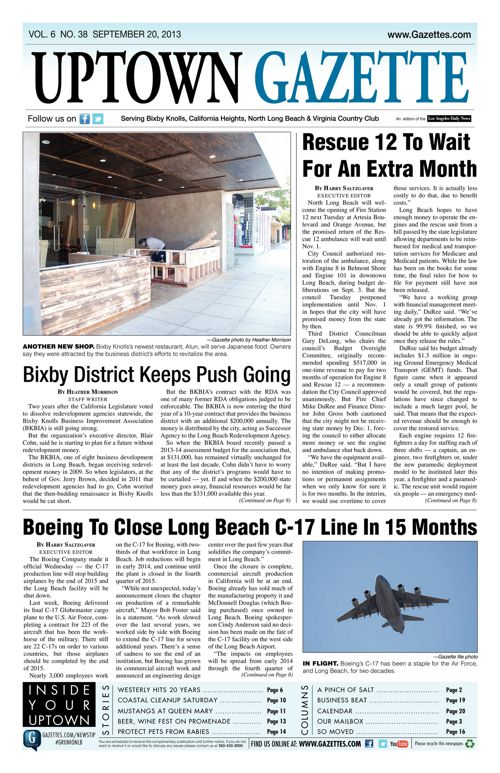 Uptown Gazette  |  September 20, 2013