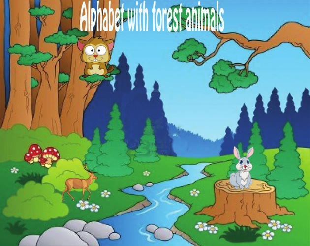 Alphabet with forest animals
