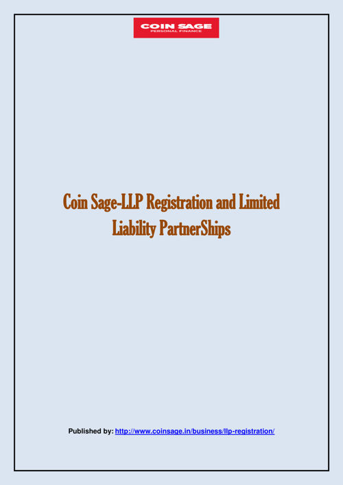 Coin Sage-LLP Registration and Limited Liability PartnerShips