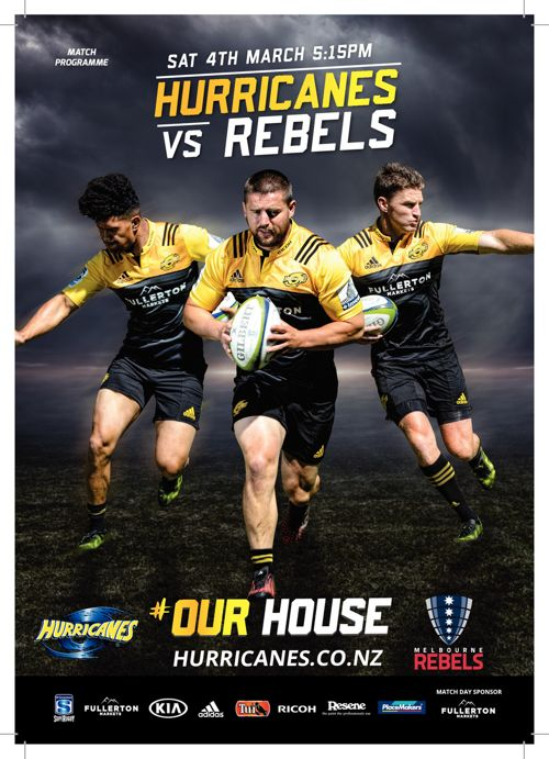 Hurricanes v Rebels official match programme