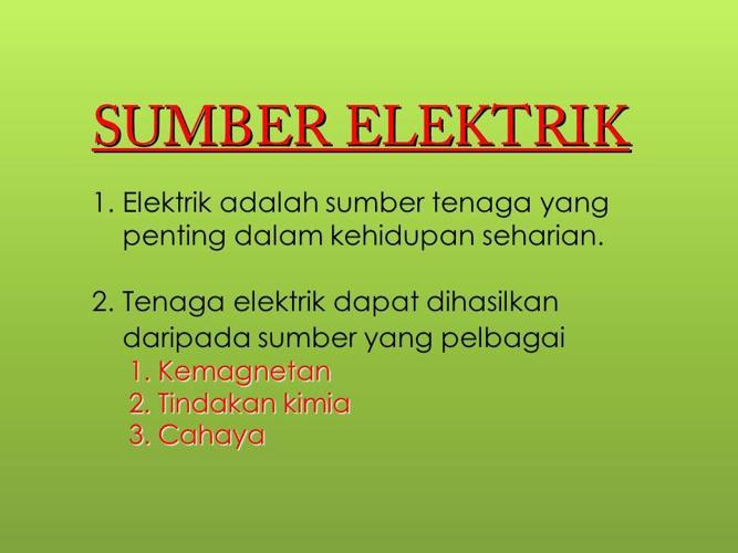 Sumber Elektrik