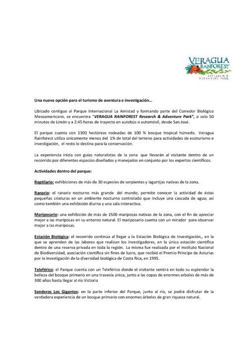 Veragua Español