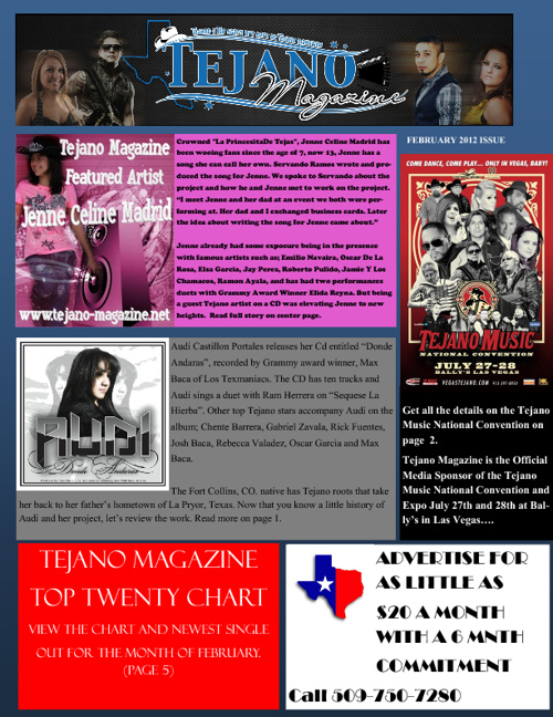 Tejano Magazine February Issue